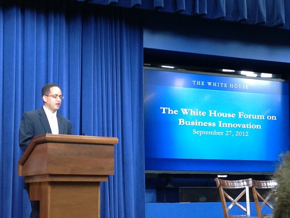 Don Graves at The White House Forum on Business Innovation