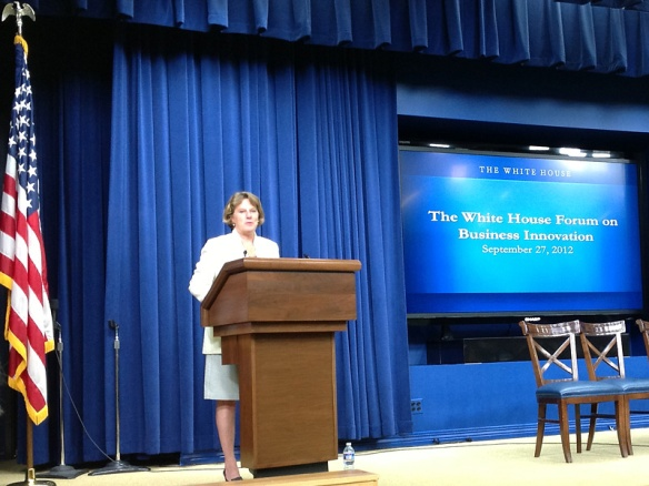 OPIC CEO Elizabeth Littlefield at The White House Forum on Business Innovation