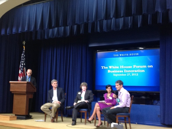 Panel 1 at The White House Forum on Business Innovation